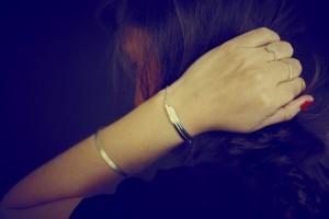 HONY- bracelet art deco-jonc