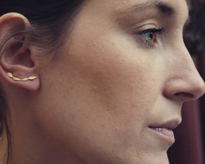 Boucles d'oreille montantes vermeil