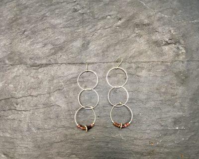Boucles d'oreille Créoles modulables en argent